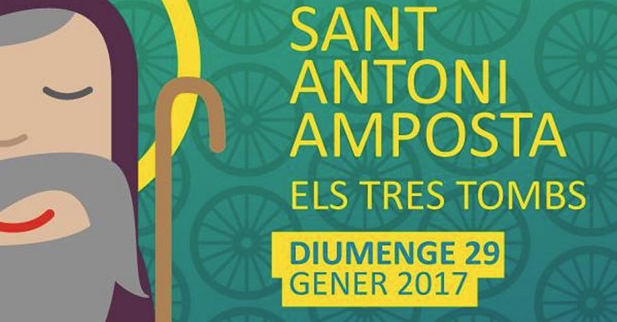 Celebració de la festivitat de Sant Antoni. Recorregut dels Tres Tombs pels carrers d'Amposta