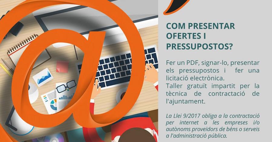 Sessió formativa gratuïta d'administració electrònica per a empreses