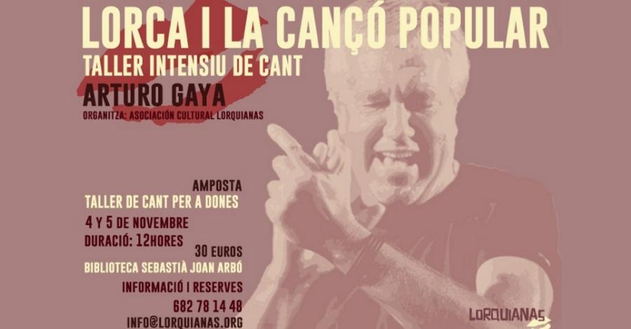 Taller intensiu de cant: Lorca i la cançó popular