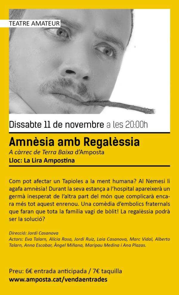 Temporada de Teatre i Dansa Amposta 2017: «Amnèsia amb Regalèssia»