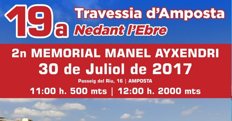 19a Travessia d'Amposta Nedant l'Ebre. 2n Memorial Manel Ayxendri