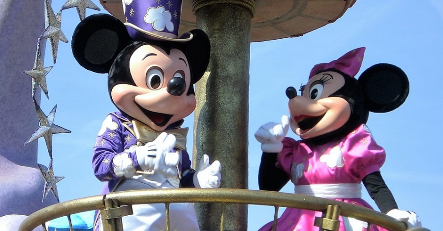Visita de Mickey i Minnie. Photocall amb el personatge