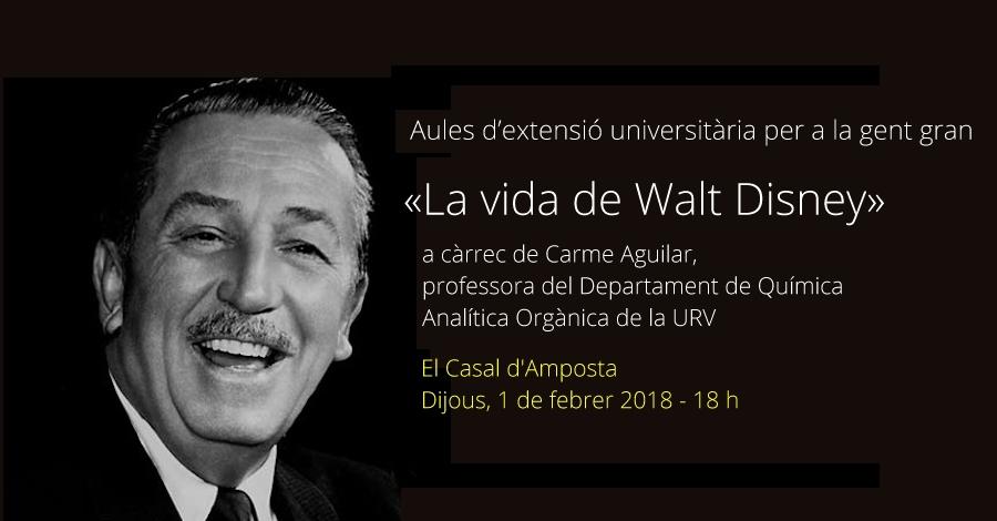 Aules d'extensió universitària per a la gent gran. «La vida de Walt Disney»